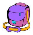 camera bag icon cartoon vector image vector image