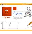 cartoon basic geometric shapes vector image
