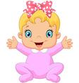 Cartoon happy baby posing vector image vector image