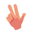 caucasian human hand showing v for victory sign vector image vector image