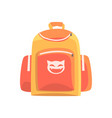 colorful childrens backpack rucksack for school vector image