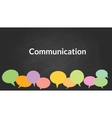 communication concept with bublle symbol with vector image vector image