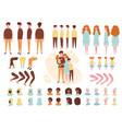 constructor animation kit family set creation kit vector image