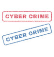 cyber crime textile stamps vector image vector image