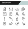 dental care prevention check up and dental vector image