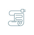electric blanket linear icon concept electric vector image