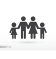 Family flat icon Sign Family vector image vector image