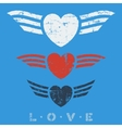 Flat graphic love emblems vector image