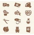 Flower shop ikons vector image vector image