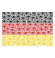 german flag pattern of skull crossbones items vector image vector image