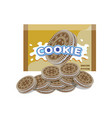 golden oreo cookie package vector image vector image