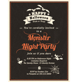 Halloween Party Invitation Template vector image vector image