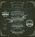 hand drawn banners and ribbons on chalkboard vector image vector image