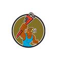 Hawk Plumber Wrench Circle Cartoon vector image vector image