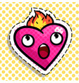 heart burns with fire love vector image vector image