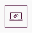 laptop icon simple gear vector image vector image