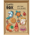 Lucky amulets and happy symbols collection in a vector image