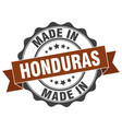 made in honduras round seal vector image vector image