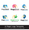 magic logo template vector image vector image