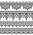 mehndi indian henna tattoo seamless pattern vector image vector image