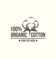 natural organic cotton pure cotton labels vector image vector image