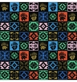 Navajo seamless colorful tribal pattern vector image vector image