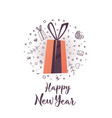 new year background with color gift bow vector image