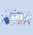 online distance internet course and education vector image