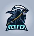 reaper mascot logo vector image vector image