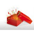 red box with a surprise vector image vector image