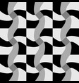 repeatable pattern with twisting checkered vector image