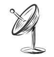 Satellite dish Sketch vector image vector image