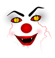 scary face clown vector image