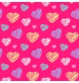 Scribble hearts pattern vector image