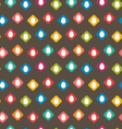 Seamless Texture with Easter Eggs vector image vector image