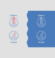set logos with lighthouse and bottle vector image