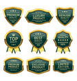 set of badges seal quality product vector image