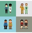 Set of business people vector image vector image