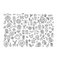 set of ethnic design elements vector image vector image