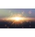 Sky Sun Realistic Bokeh Design Abstract Shining vector image vector image