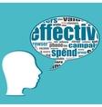 Social media business people talk in speech vector image