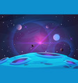 space and planet background planets surface with vector image vector image