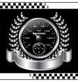 speedometer racing shield vector image vector image