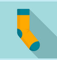 sport sock icon flat style vector image