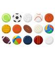 sports balls soccer baseball tennis bowling vector image