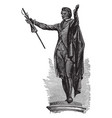 statue of patrick henry at richmond is a american vector image vector image