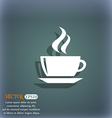 tea coffee icon symbol on the blue-green abstract vector image