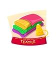 Textiles concept design vector image