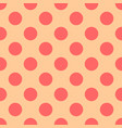 tile pattern with pink polka dots on background vector image vector image