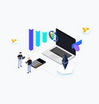 trading coin isometric vector image